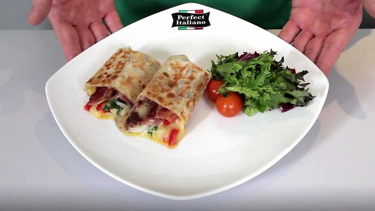 Perfect Italiano - Bacon, Capsicum And Rocket Wrap