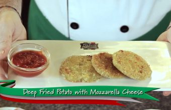 Cooking Demo: Deep Fried Potato with Mozzarella Cheese Served with sweet and sour sauce