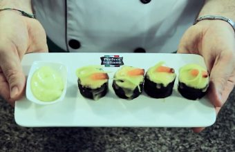 Cooking Demo: Rice Roll with Mozzarella Cheese and Salmon